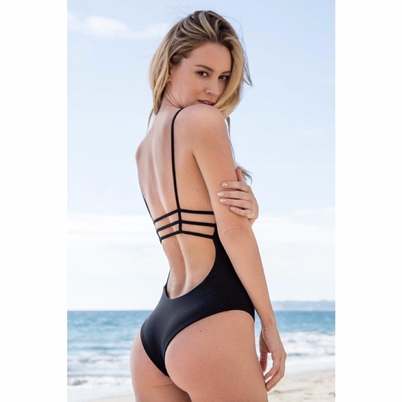 great discount sale good looking clear and distinctive Bettinis Strappy Cheeky One-Piece Swimsuit NWT